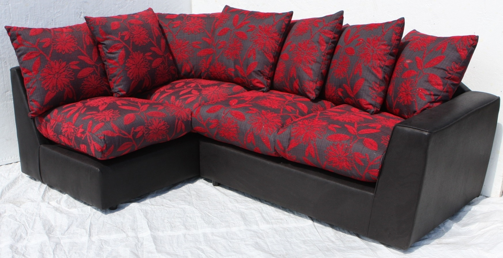 Helibeds Same Day Or Next Day Delivery Of – Sofa's – Harry Corner Pertaining To Red And Black Sofas (Image 5 of 10)