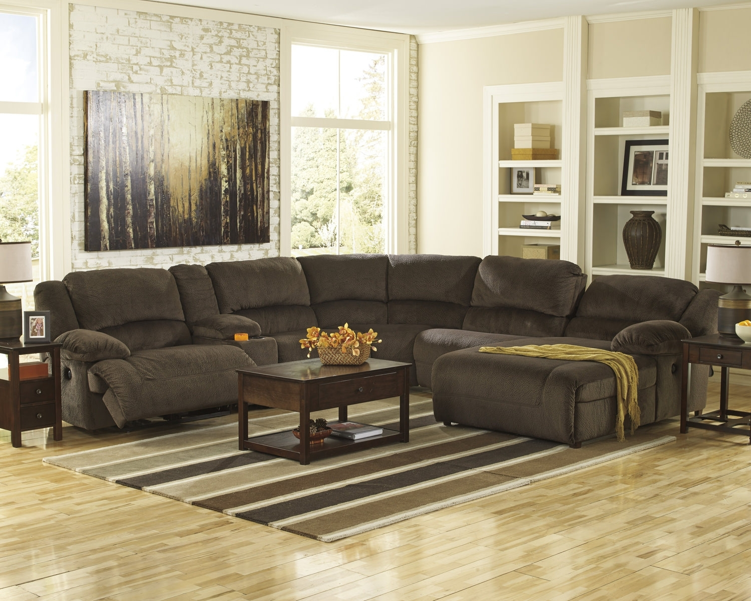 Hero 6 Piece Reclining Sectional | Dock86 In Dock 86 Sectional Sofas (Image 6 of 10)