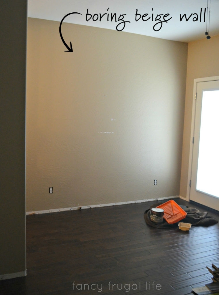 Herringbone Pattern Painted Accent Wall Using Tape | Throughout Wall Accents For Beige Room (Image 10 of 15)