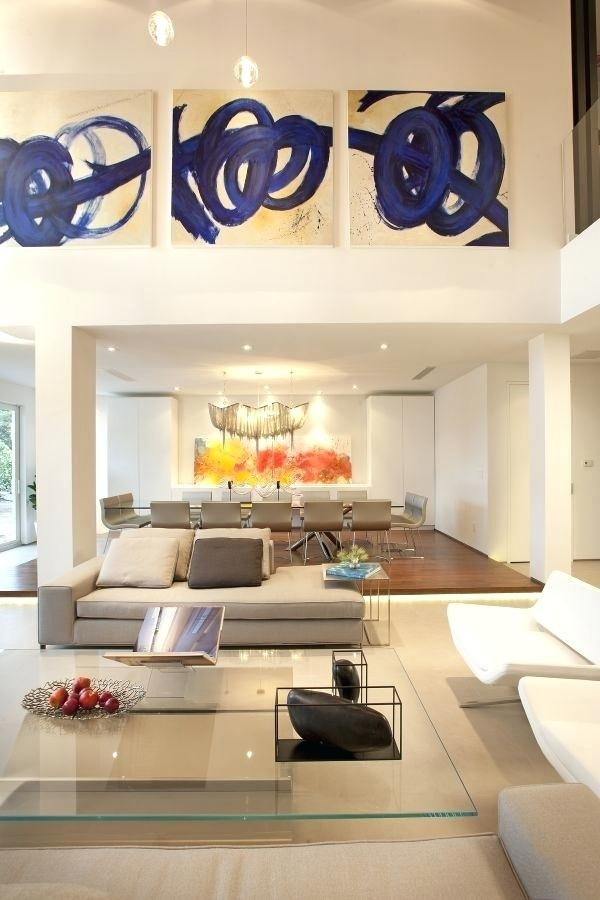 High Ceiling Wall Decor Ideas Inspiring How To Decorate A Living With Regard To High Ceiling Wall Accents (View 4 of 15)