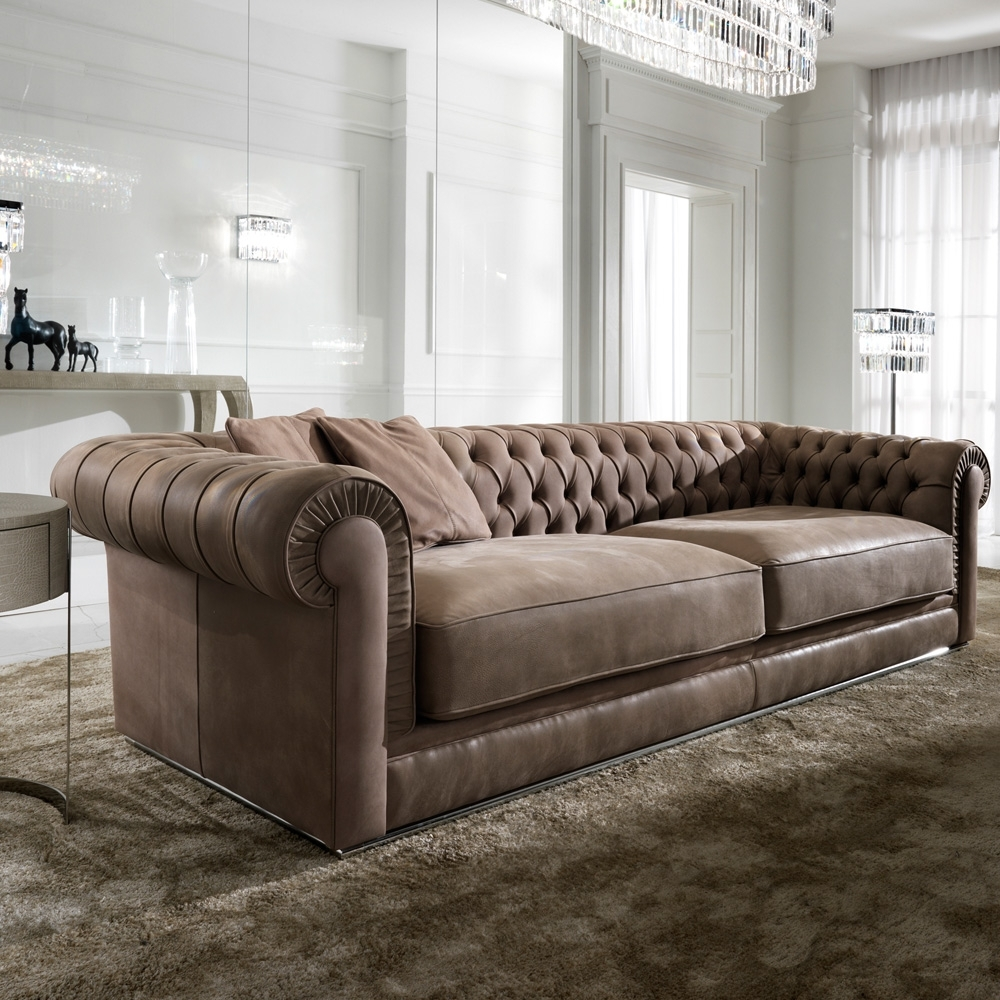 High End Italian Nubuck Leather Button Upholstered Sofa | Juliettes For High End Sofas (View 5 of 10)