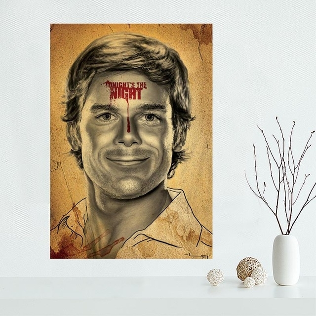 High Quality Custom Dexter Canvas Painting Poster Cloth Silk Within Silk Fabric Wall Art (Image 13 of 15)
