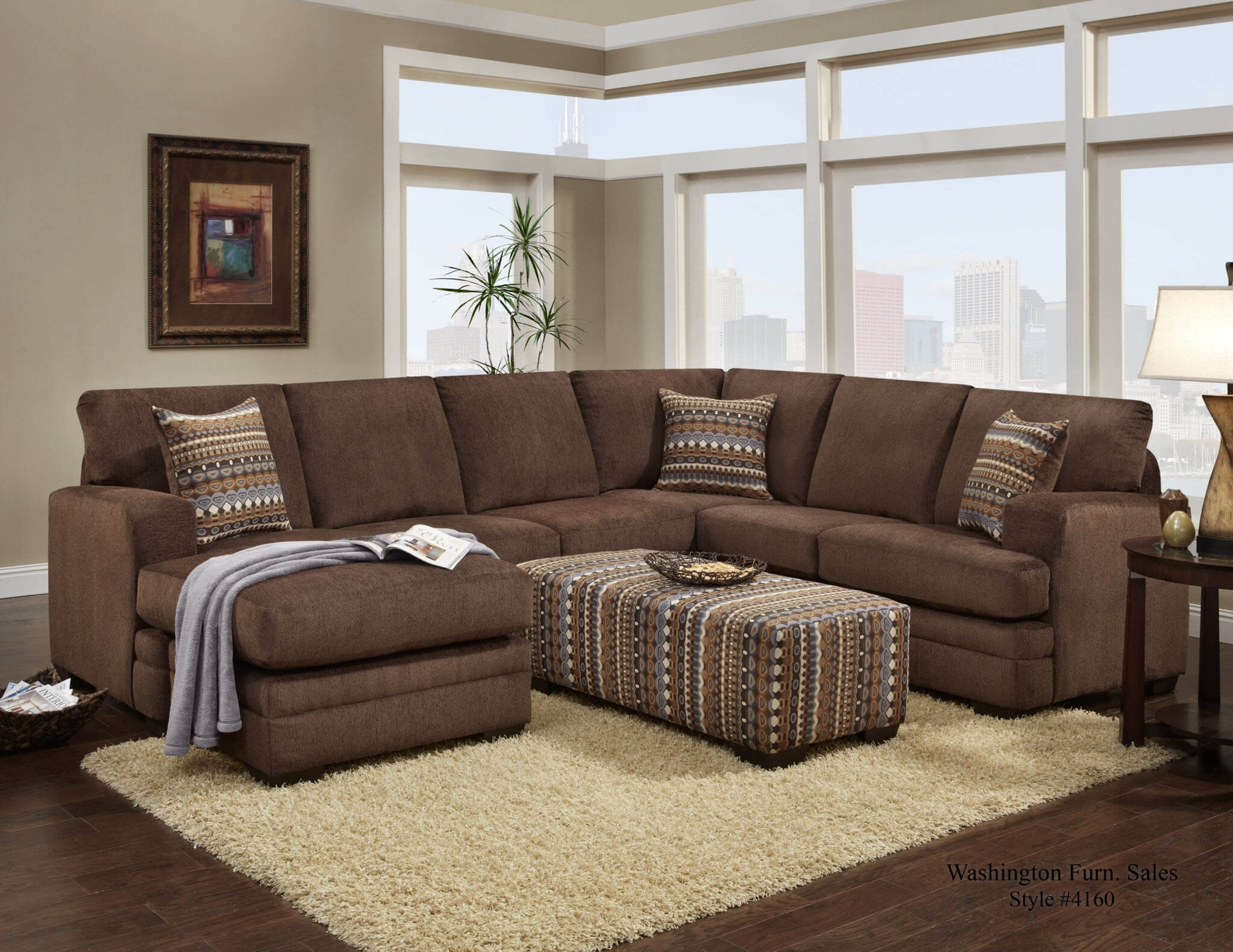 Hillel Chocolate Sectional | Sectional Sofa Sets Inside Chocolate Sectional Sofas (Image 5 of 10)