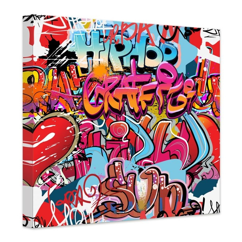 Hip Hop Graffiti Canvas Print – Wall Art Intended For Graffiti Canvas Wall Art (View 6 of 15)