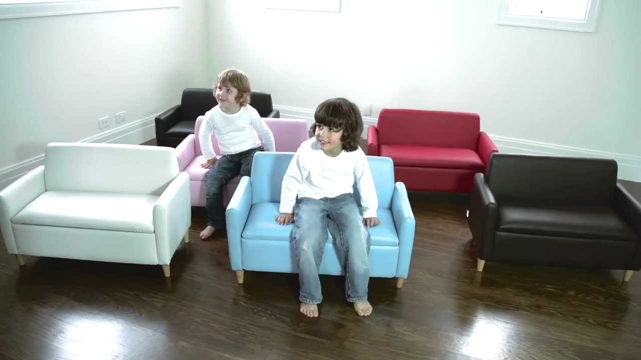 Hip Kids Hudson Sofa Chair W/ Toy Storage | Childrens Couch Sofas In Childrens Sofas (Image 7 of 10)