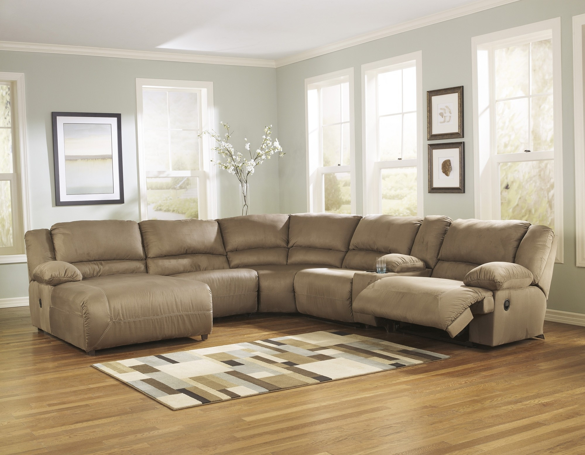 Hogan Mocha 6 Piece Sectional Sofa For $1, (Image 6 of 10)