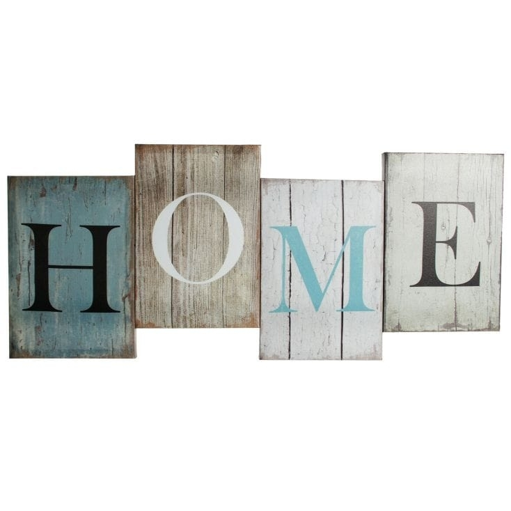 Home' Canvas Letters Wall Art | Find Me A Gift Intended For Letters Canvas Wall Art (View 6 of 15)