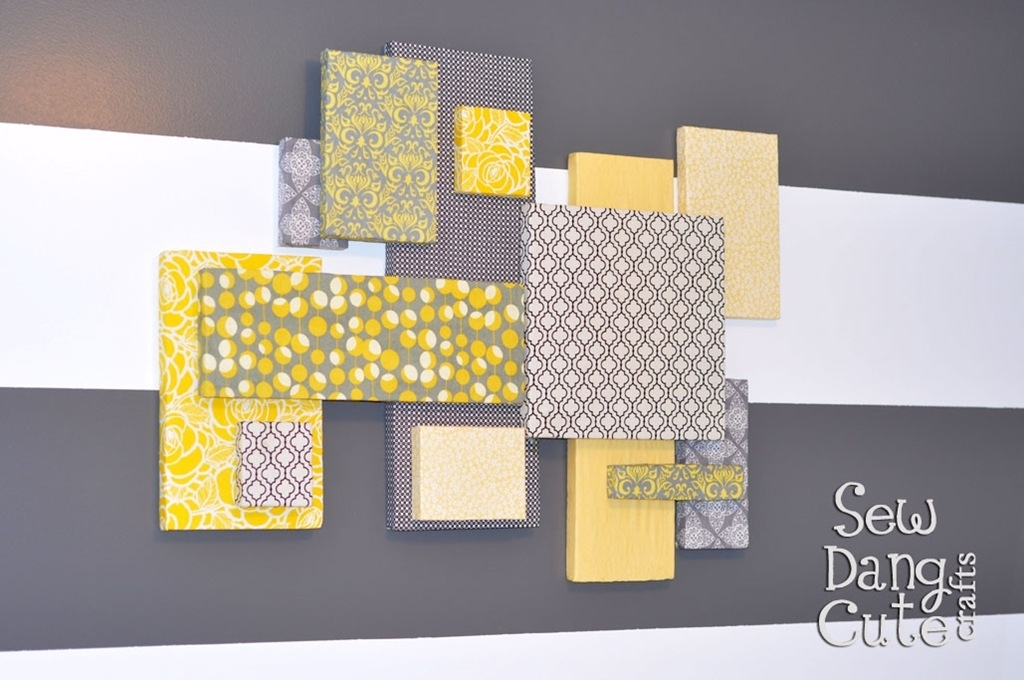 Home Dec Tutorial: Diy Custom Wall Art With Fabric Foam (It's Pertaining To Diy Fabric Canvas Wall Art (Image 13 of 15)