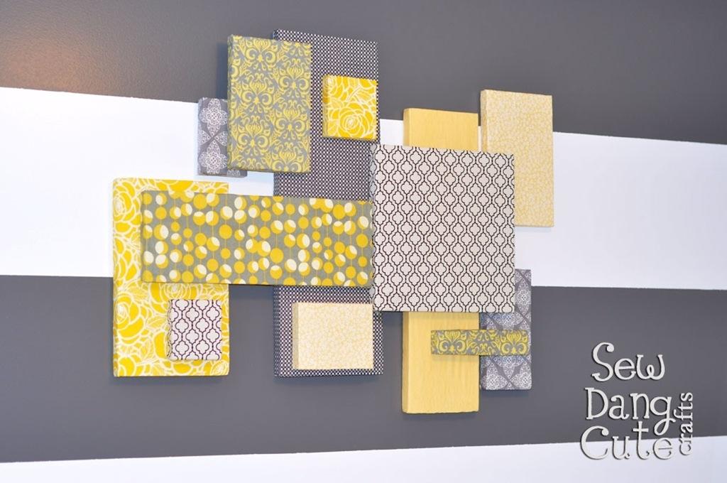 Home Dec Tutorial: Diy Custom Wall Art With Fabric Foam (It's Regarding Diy Fabric Wall Art (View 12 of 15)