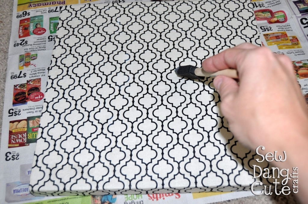 Home Dec Tutorial: Diy Custom Wall Art With Fabric + Foam (It's With Foam And Fabric Wall Art (View 13 of 15)