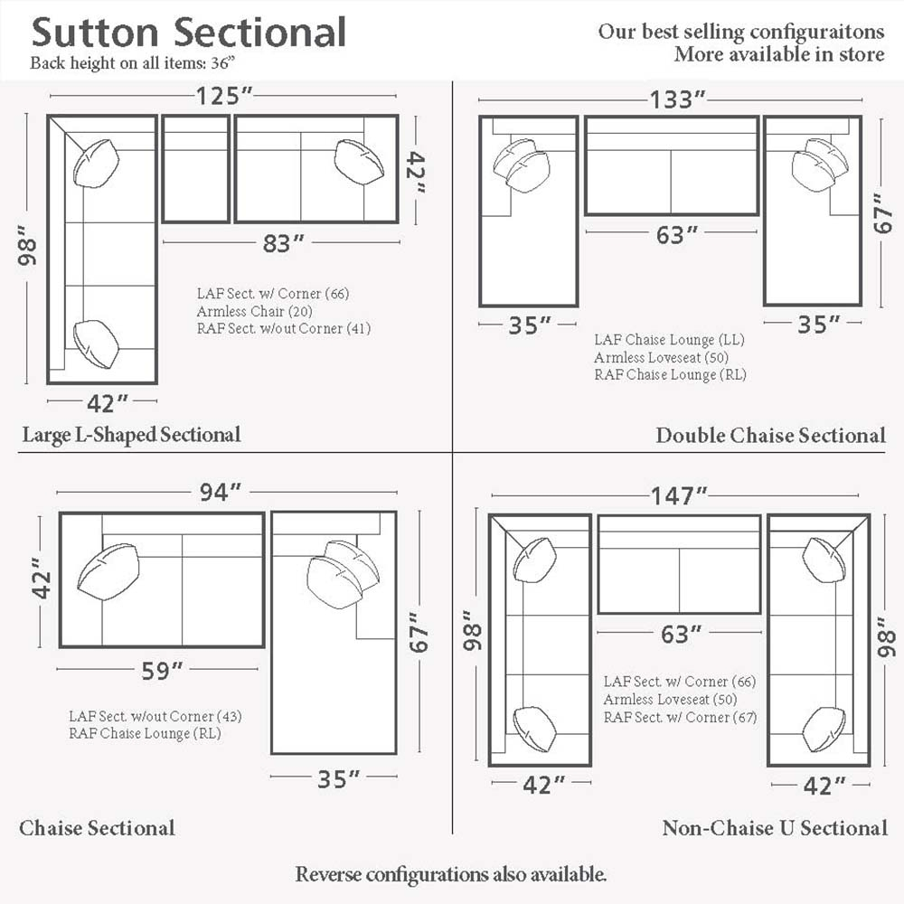Home Decor Cozy Sectional Sofa Dimensions Sutton U Shaped Together Intended For Sectional Sofas By Size (View 3 of 10)
