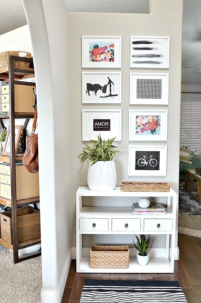 Home Decor – Entryway And Free Printables – The 36Th Avenue Throughout Entryway Wall Accents (View 6 of 15)