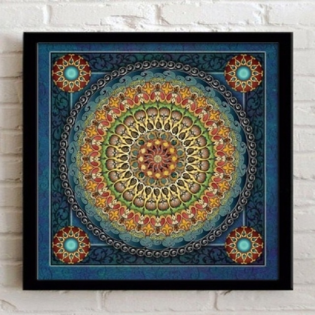 Home Decoration Framed Wall Art Canvas Painting Ethnic Picture For Inside Ethnic Canvas Wall Art (View 2 of 15)