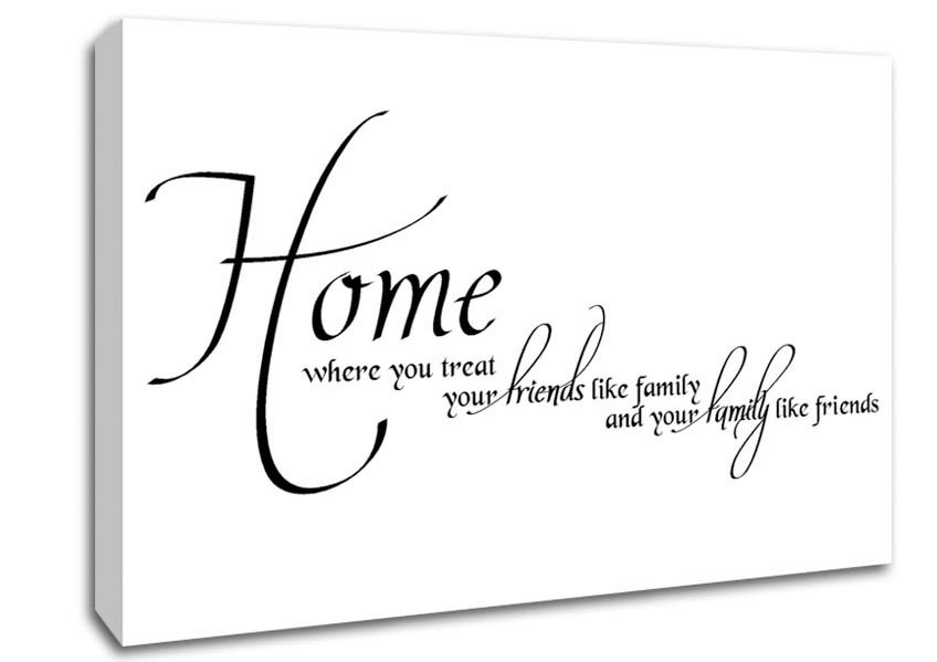 Home Family Friends Text Quotes Canvas Stretched Canvas Intended For Canvas Wall Art Family Quotes (Image 7 of 15)