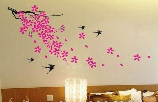Homeofficedecoration | Wall Decor Stickers Flowers Pertaining To Flowers Wall Accents (Image 9 of 15)