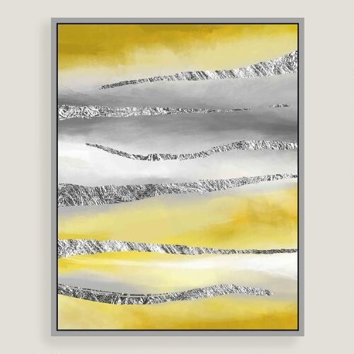 Horizon Canvas Wall Art With Silver Leaf For Abstract Horizon Wall Art (View 11 of 15)