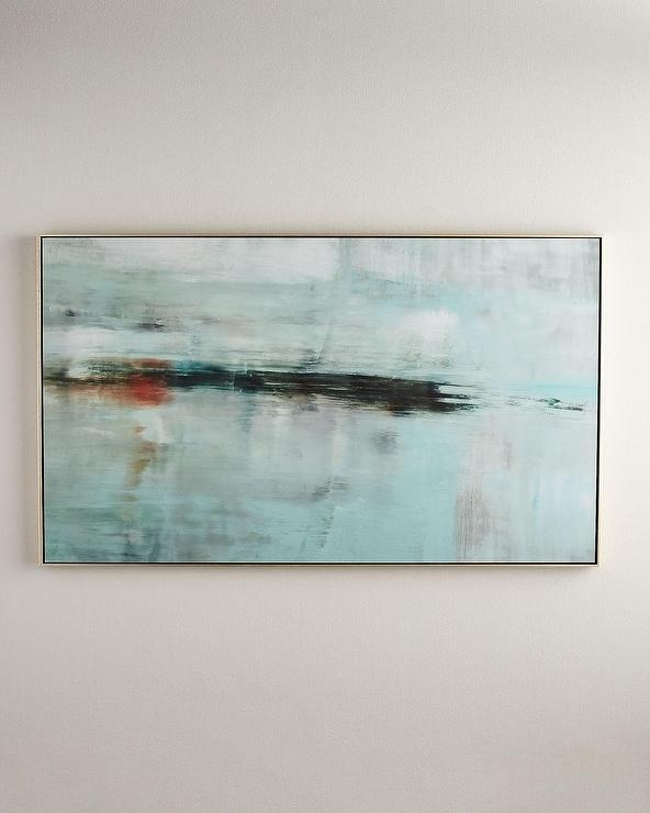 Horizon Giclée Floater Frame Wall Art In Abstract Horizon Wall Art (View 7 of 15)