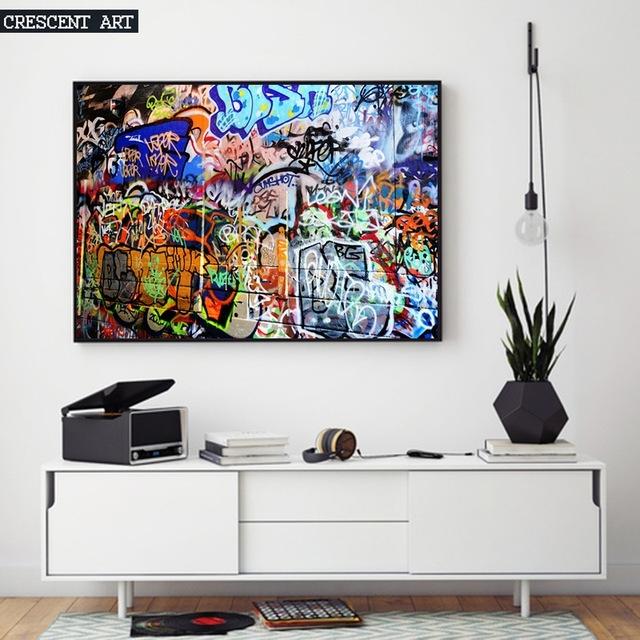 Hot Sale Modern Pop Teenage Graffiti Street Art Poster Abstract Regarding Abstract Wall Art Posters (View 4 of 15)