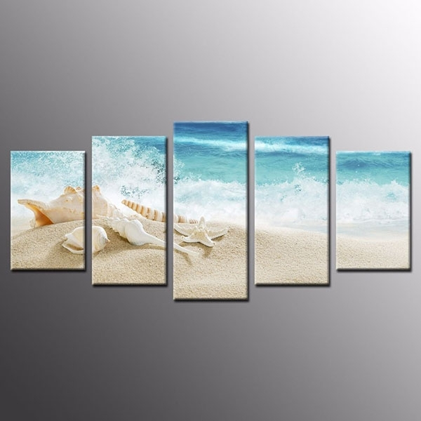Hot Sale Reasonable Price Framed Sea Shell Starfish Beach Canvas With Framed Beach Art Prints (View 14 of 15)