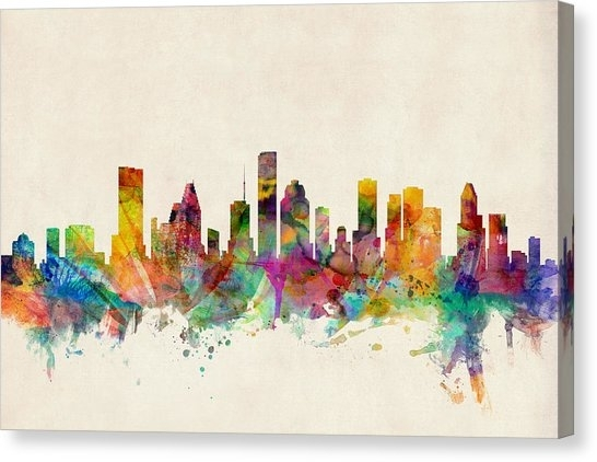 Houston Texas Canvas Prints | Fine Art America Pertaining To Houston Canvas Wall Art (View 13 of 15)