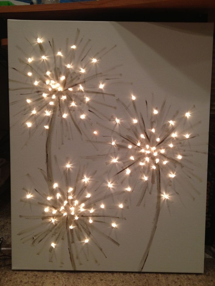 How Cool! This Could Be Dandelions Or Fireworks! A Simple Art For Pertaining To Dandelion Canvas Wall Art (Image 10 of 15)