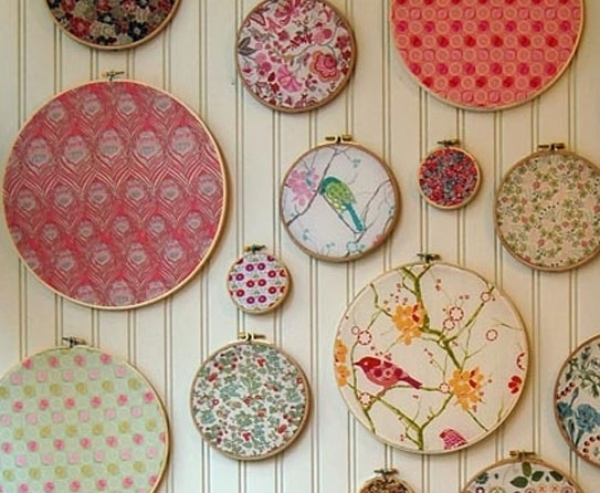 How Has Fabric Wall Art Grown Over The Years? For Fabric Circle Wall Art (View 5 of 15)