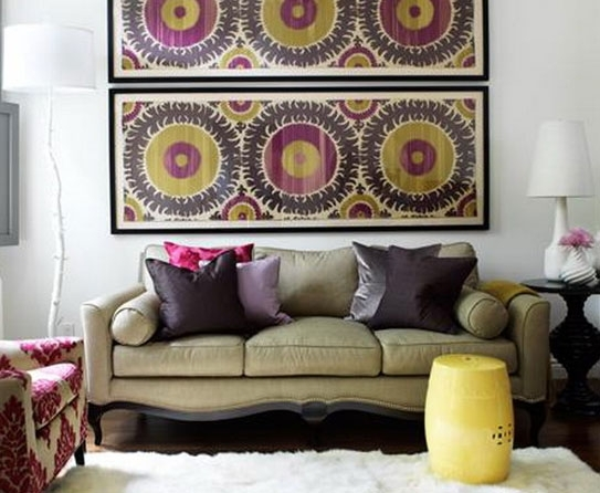 How Has Fabric Wall Art Grown Over The Years? In Purple Fabric Wall Art (Image 9 of 15)