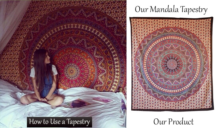 How To Buy Indian Tapestry With Free Shipping With Indian Fabric Wall Art (Image 6 of 15)