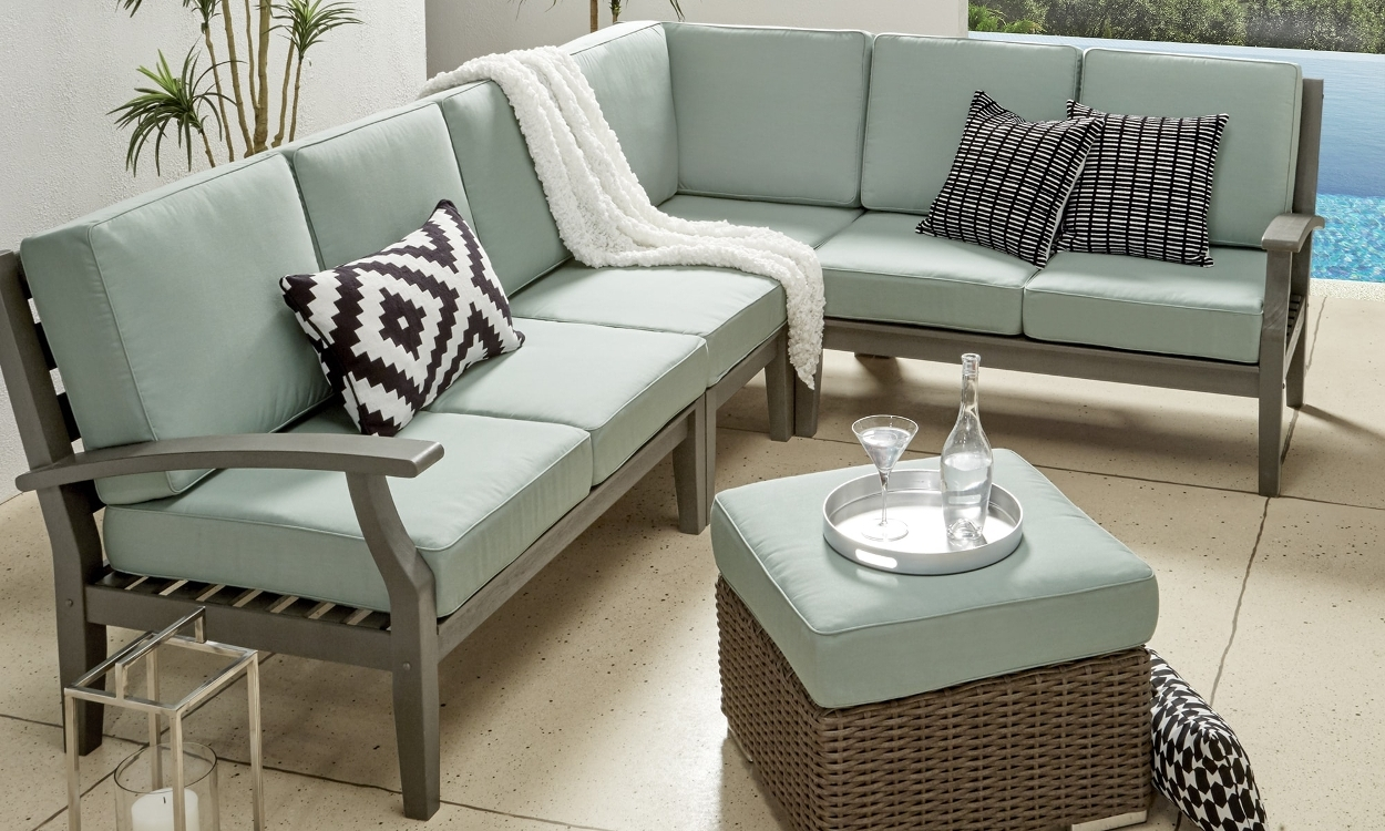 How To Choose Patio Furniture For Small Spaces – Overstock In Patio Sofas (Photo 6 of 10)