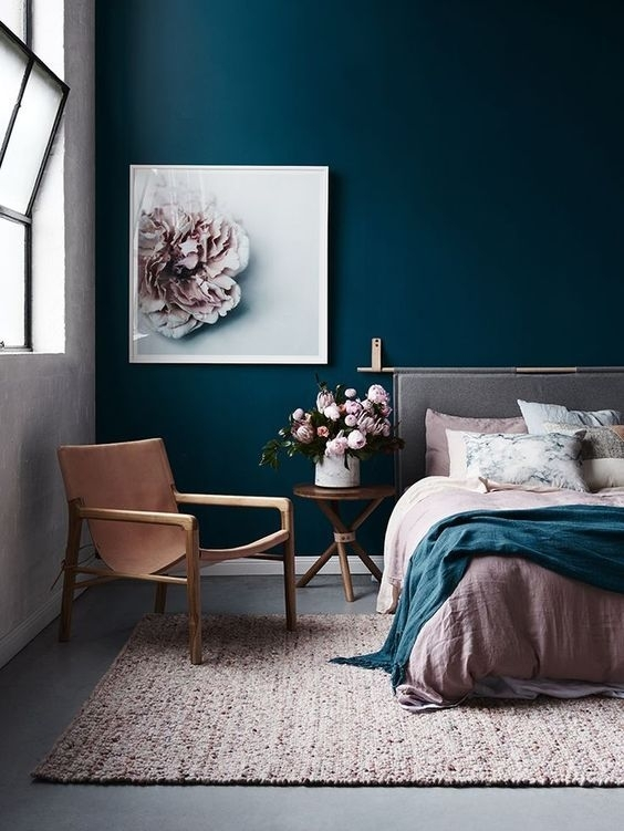 How To: Create A Minimalist Interior With Barnaby Lane | Dark Blue In Wall Accents For Blue Room (View 11 of 15)
