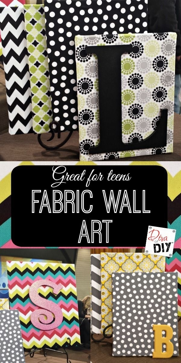 How To Create Beautiful Fabric Wall Art On A Dime | Fabric Wall Regarding Fabric Scrap Wall Art (Image 7 of 15)