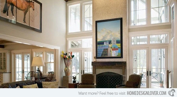 How To Decorate An Interior With High Ceilings | Home Design Lover In High Ceiling Wall Accents (Image 9 of 15)