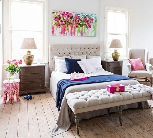 How To Decorate Space Above Bed | Furnish Burnish With Fabric Wall Art Above Bed (Image 9 of 15)