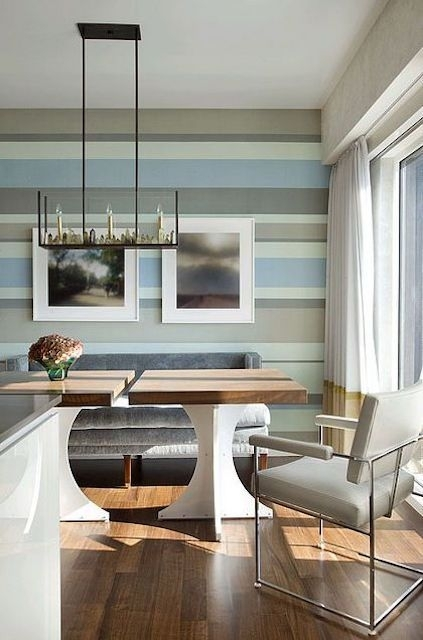 How To Decorate With Stripes Throughout Horizontal Stripes Wall Accents (Image 9 of 15)
