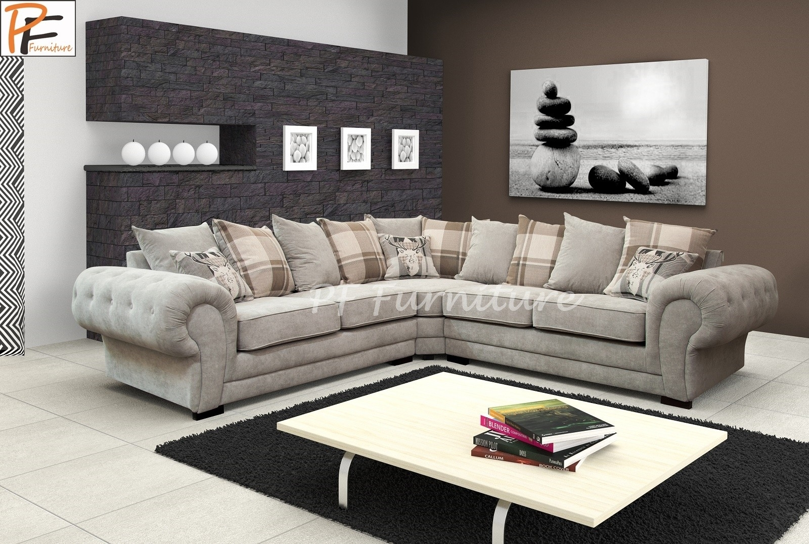 How To Decorate Your Living Room With Fabric Corner Sofa Throughout Fabric Corner Sofas (View 2 of 10)