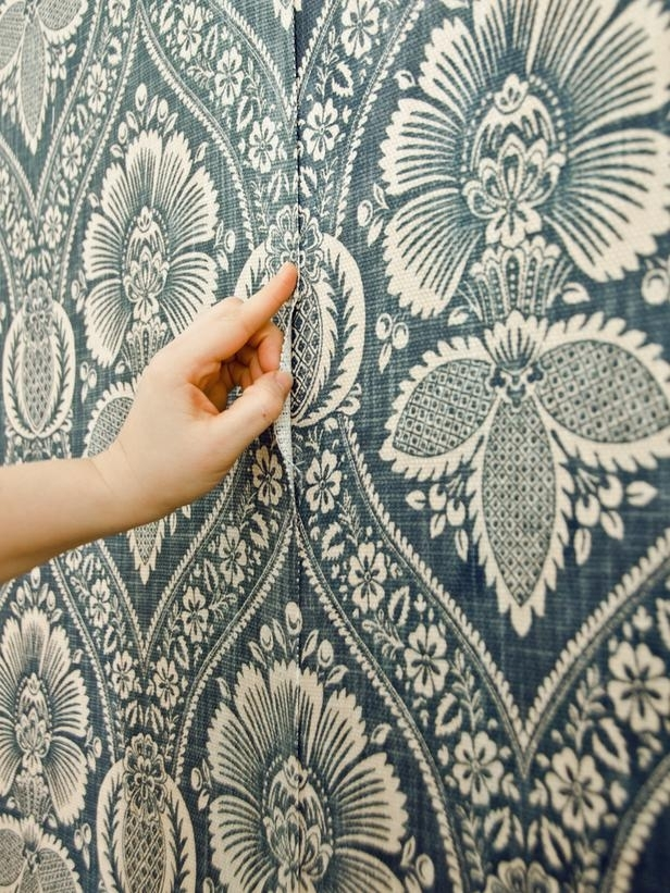 How To Install A Fabric Feature Wall | Wallpaper, Fabrics And Walls In Damask Fabric Wall Art (Image 10 of 15)
