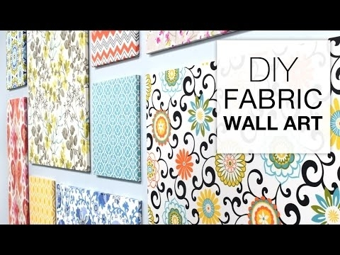 How To Make Fabric Wall Art – Easy Diy Tutorial – Youtube Inside Diy Large Fabric Wall Art (Image 9 of 15)