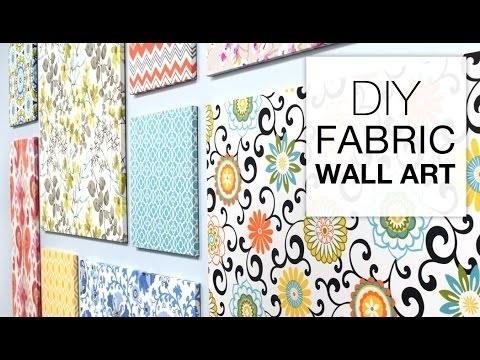 How To Make Fabric Wall Art – Easy Diy Tutorial – Youtube Regarding Diy Fabric Wall Art (View 5 of 15)
