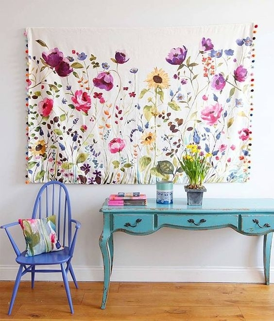 How To Make Fabric Wall Art | Share Your Craft | Pinterest Pertaining To Floral Fabric Wall Art (Image 11 of 15)