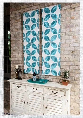 How To Make Outdoor Fabric Wall Art | Do It Yourself Advice Blog (Image 9 of 15)