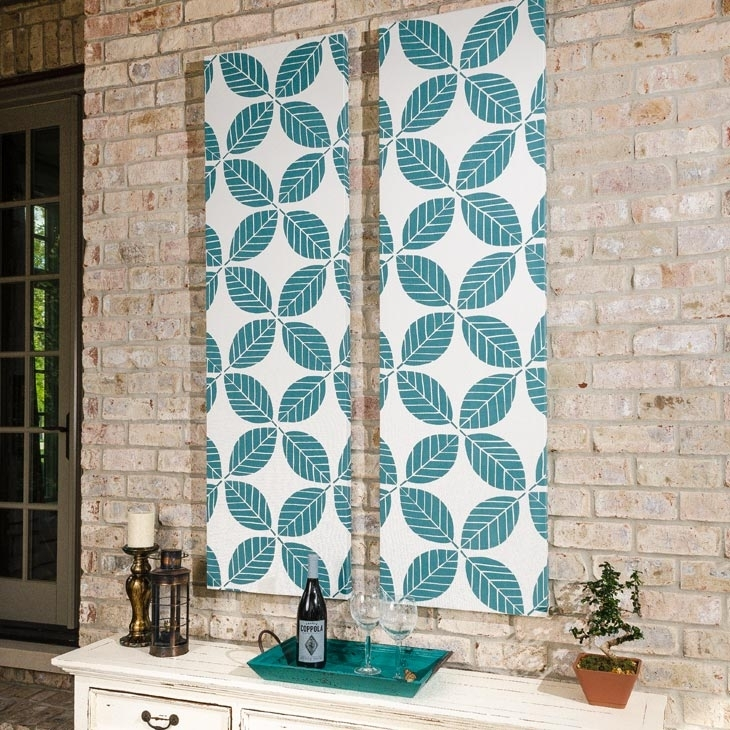 How To Make Outdoor Fabric Wall Art Video – Sailrite Throughout Outdoor Fabric Wall Art (Image 8 of 15)
