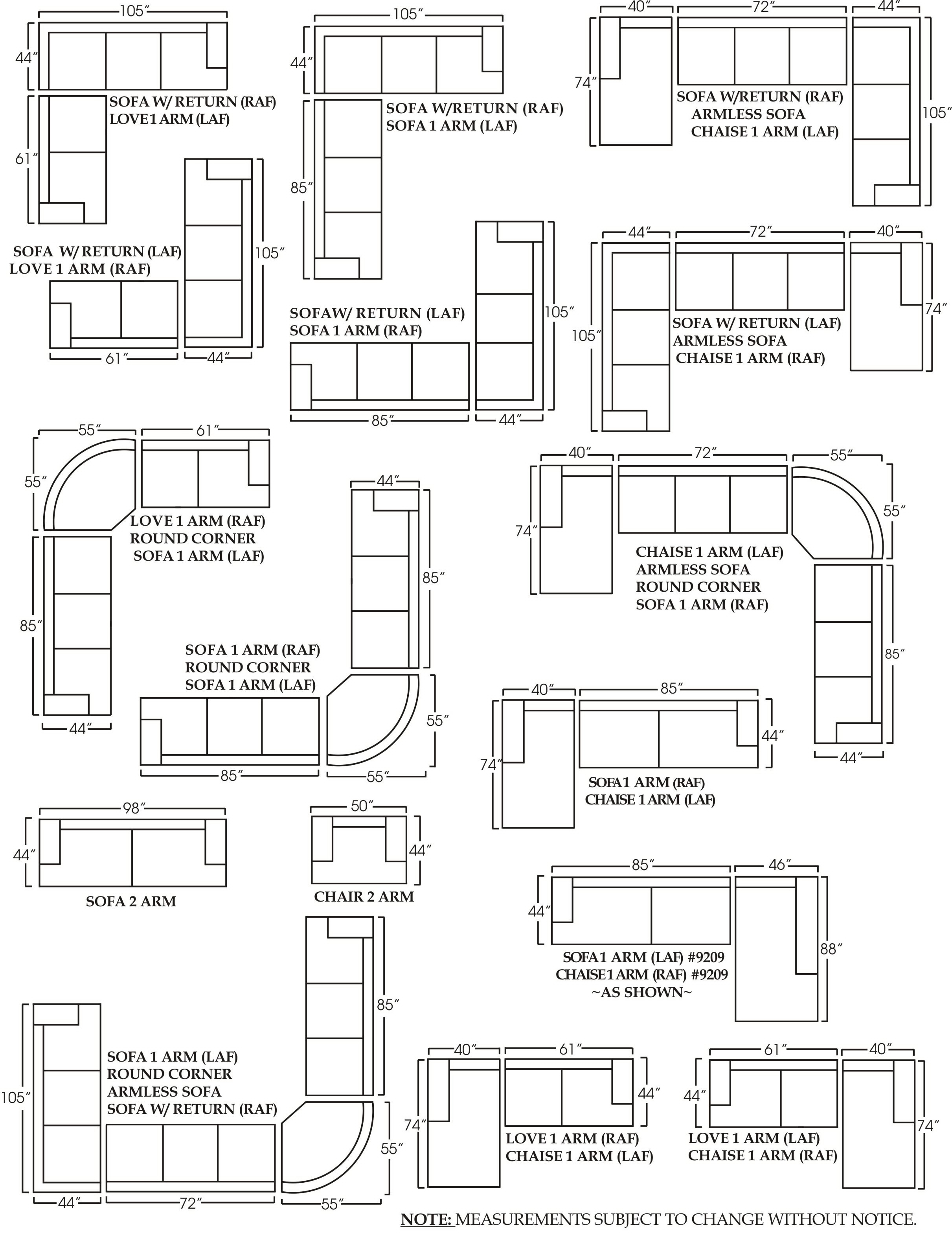 How To Measure Sectional Sofa Dimensions | Conceptstructuresllc With Regard To Measurements Sectional Sofas (Image 5 of 10)