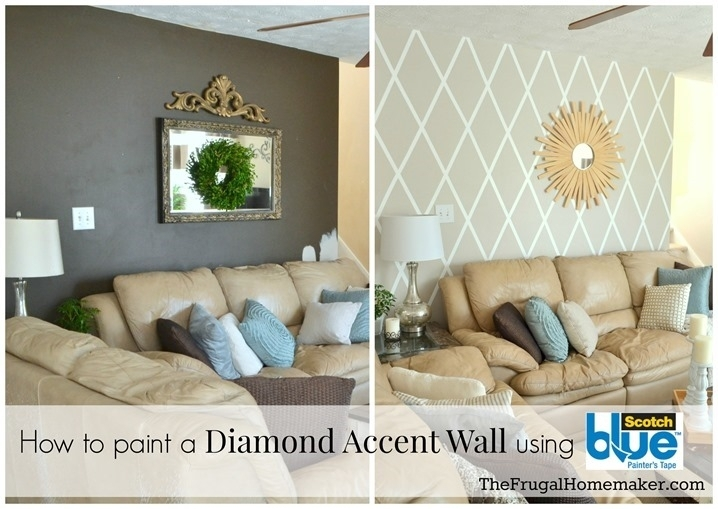 How To Paint A Diamond Accent Wall Using Scotchblue™ Painter's Tape For Wall Accents Without Paint (View 15 of 15)