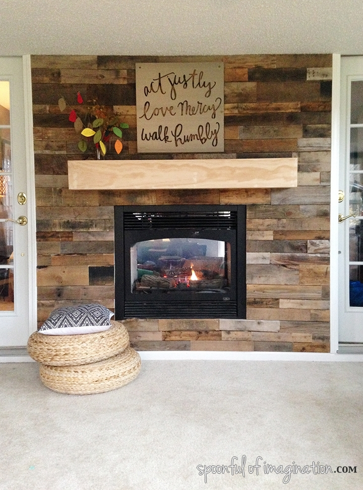 How To Panel A Wall With Pallet Wood: 10 Diy Projects – Shelterness With Regard To Wood Pallets Wall Accents (Image 8 of 15)