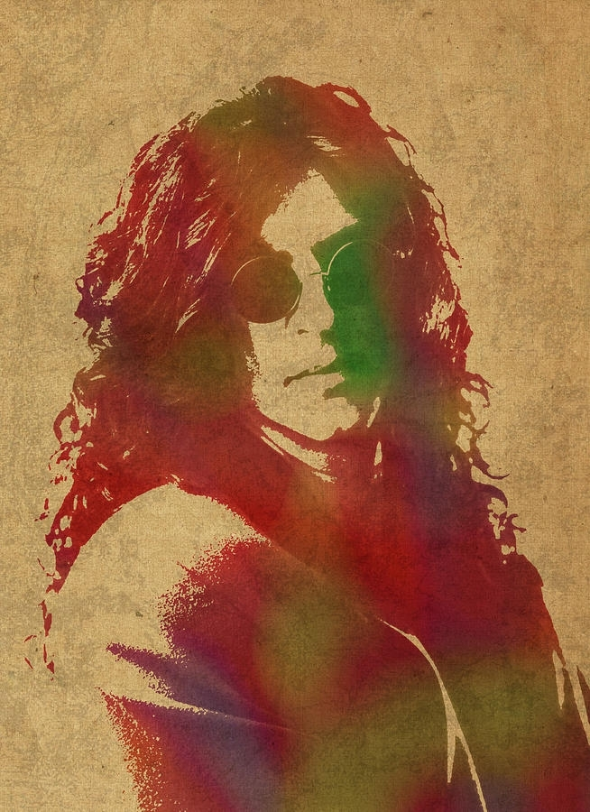 Howard Stern Watercolor Portrait Mixed Mediadesign Turnpike For Howard Stern Canvas Wall Art (Image 8 of 15)