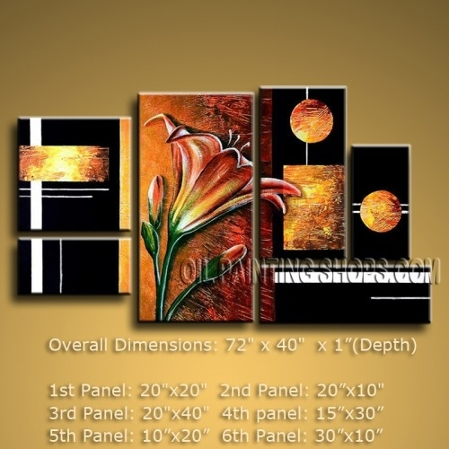 Huge Abstract Oil Painting Canvas Wall Art Modern Contemporary With Modern Abstract Oil Painting Wall Art (View 7 of 15)