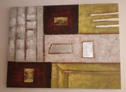 Huge Canvas Wall Art White With Metallic Look | Art | Gumtree In Gumtree Canvas Wall Art (Image 5 of 15)