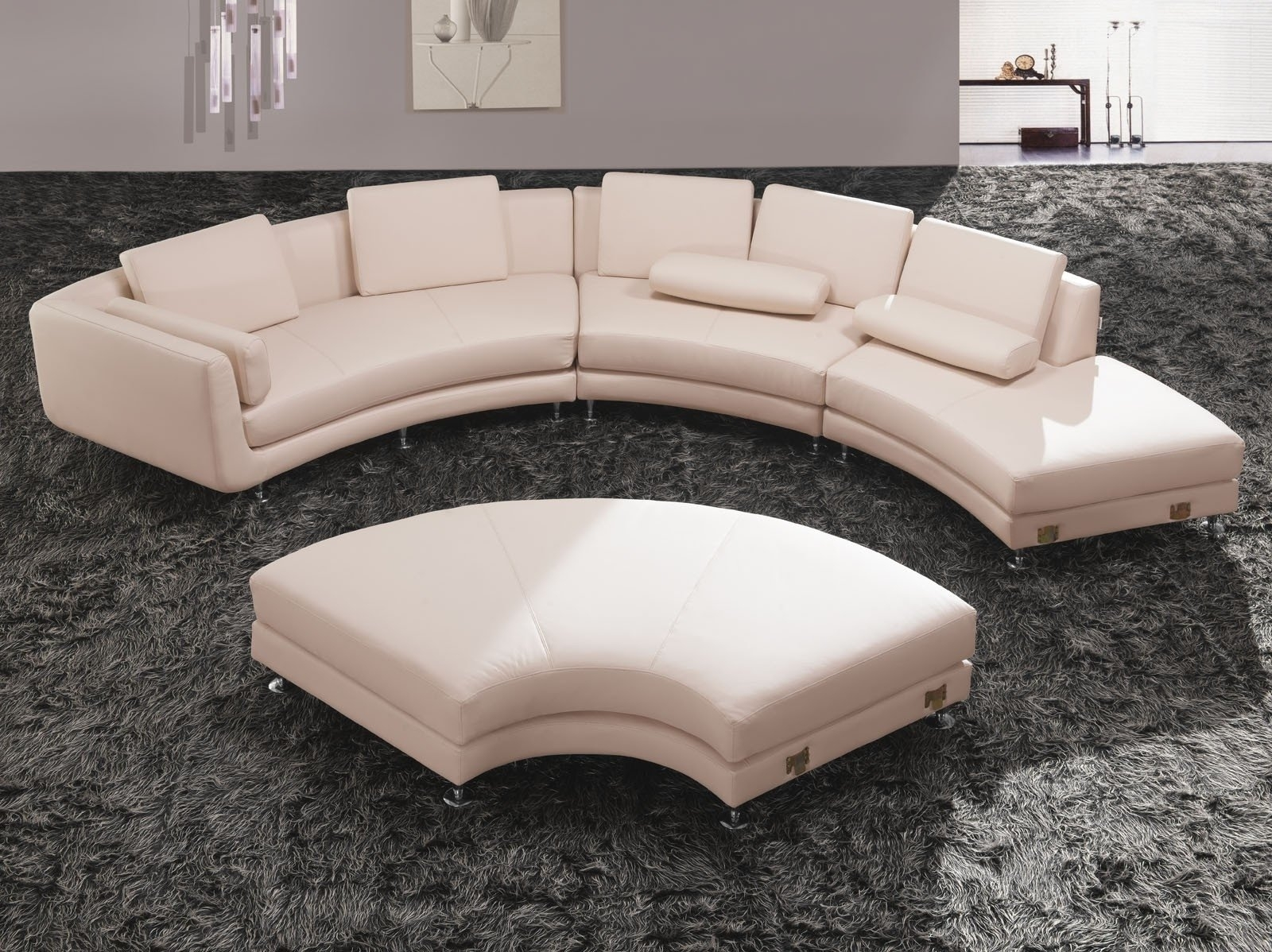 Huge Gift Round Sectional Sofas Furniture Modern Reversible Sofa Within Rounded Sofas (Image 4 of 10)