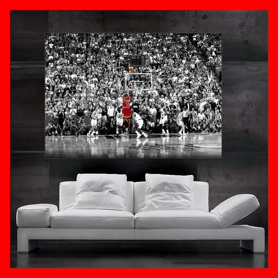 Huge Michael Jordan 23 Poster Wall Art Print Photoflyingdingo With Regard To Michael Jordan Canvas Wall Art (Image 6 of 15)