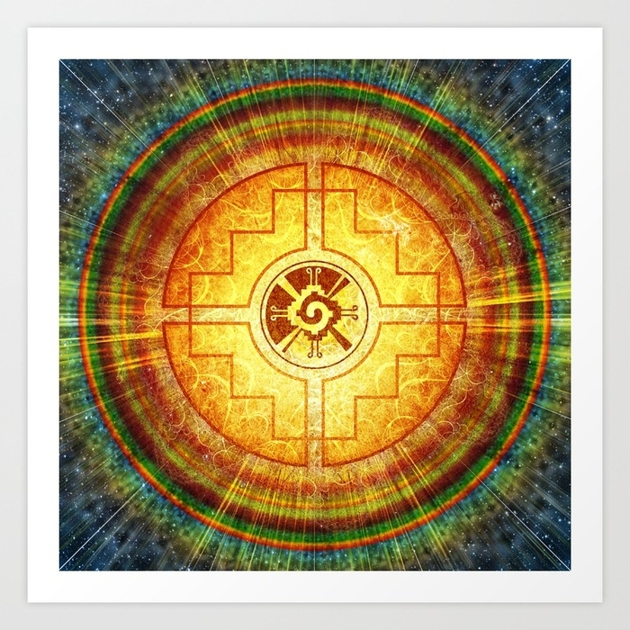 Hunab Ku Mandala Art Printmartinmancha | Society6 Within Ku Canvas Wall Art (View 13 of 15)